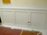Wainscot primed and ready for paint!